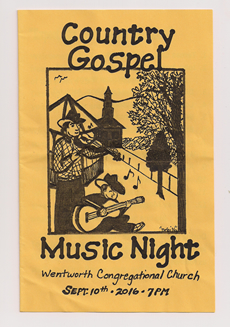 Country Gospel Music Night flyer