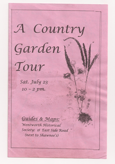 A Country Garden Tour brochure